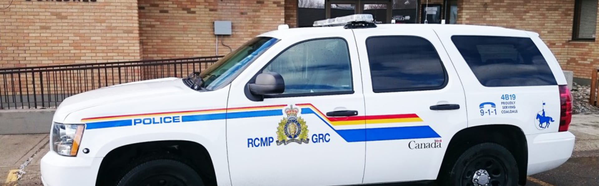 RCMP vehicle a Town Office