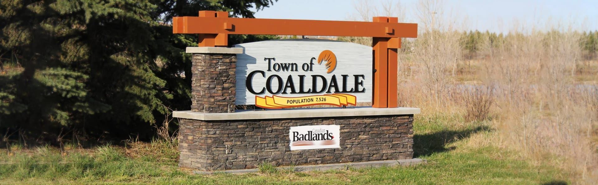 Town of Coaldale sign.