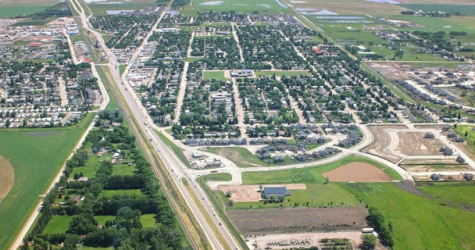 Aerial view of the Town of Coaldale